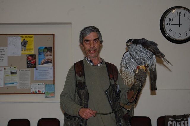 Steve with his Goshawk