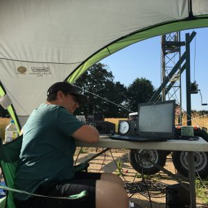 2E0SSM operating the station
