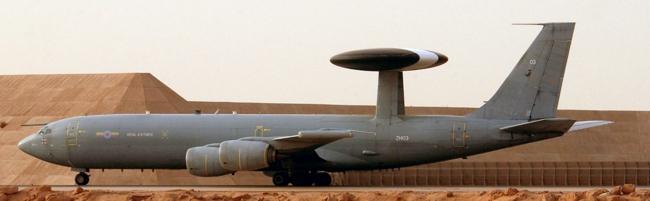 RAF AWACS Aeroplane