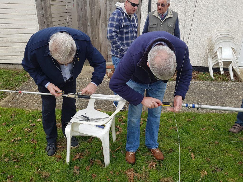 Members Assembling the AV-640