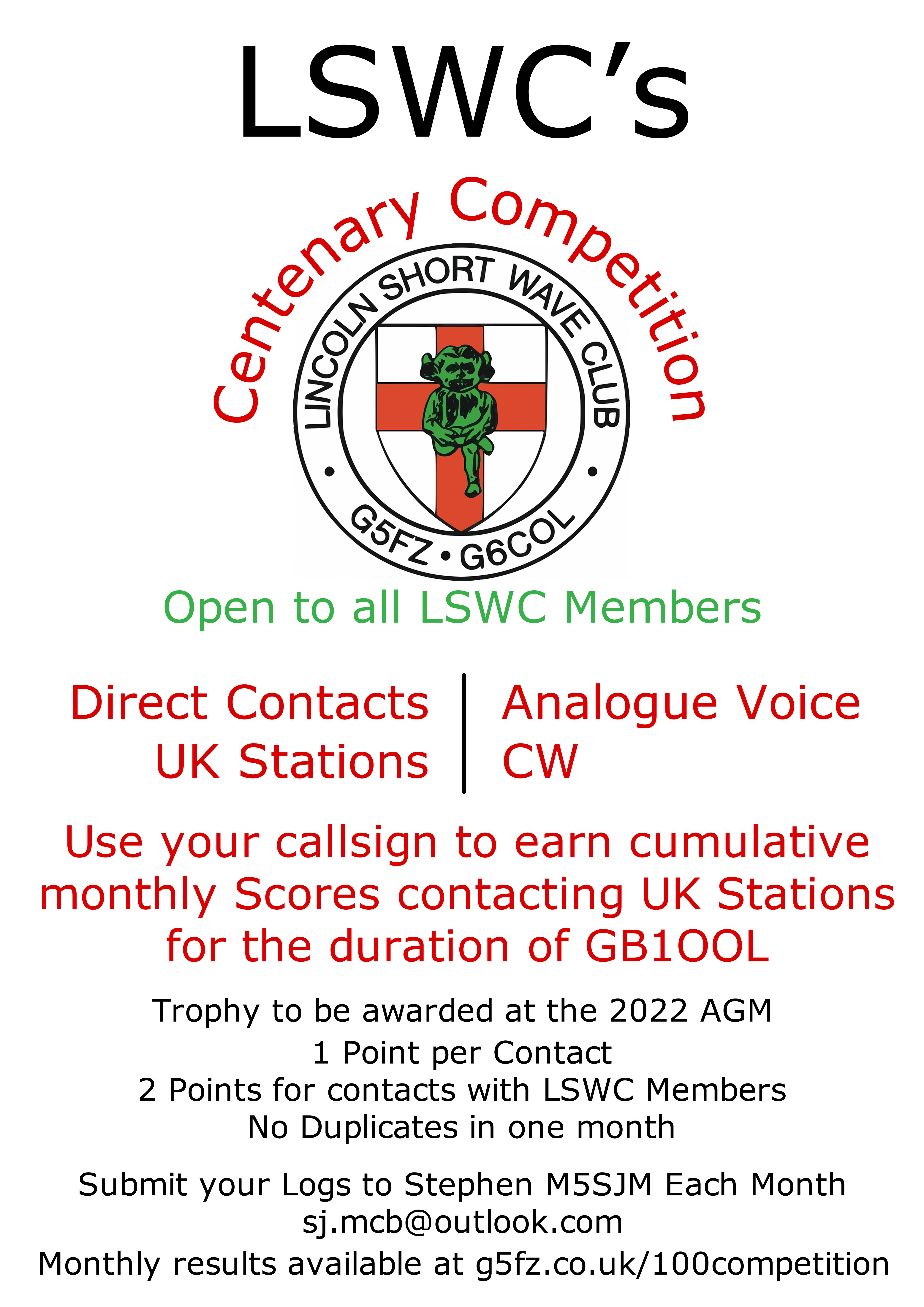 Centenary Competition Poster